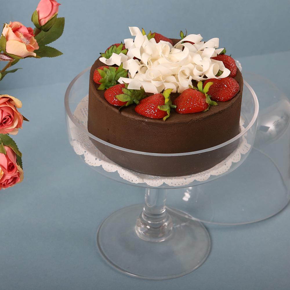 마쉬매리골드 초코 딸기 케이크 모형, 브라운
