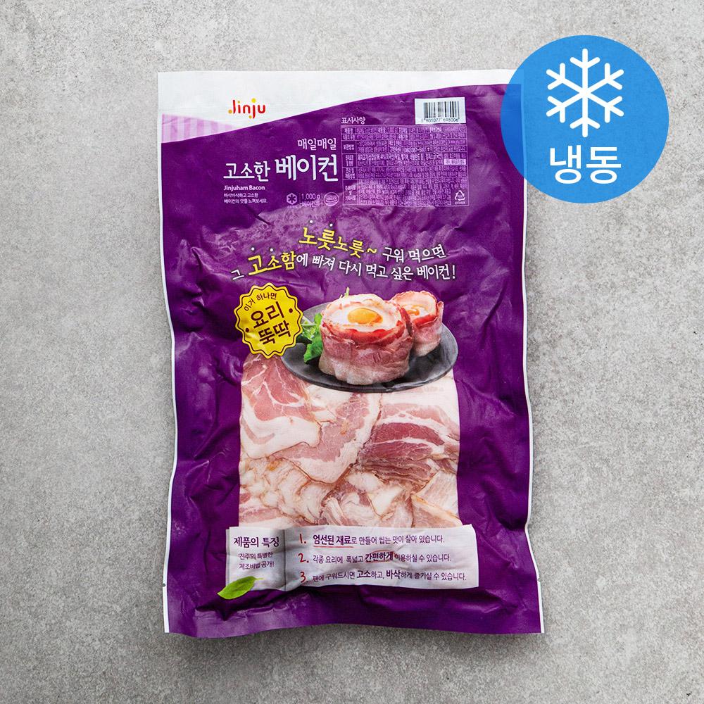 진주햄 매일매일 고소한 베이컨 (냉동), 1000g, 1개