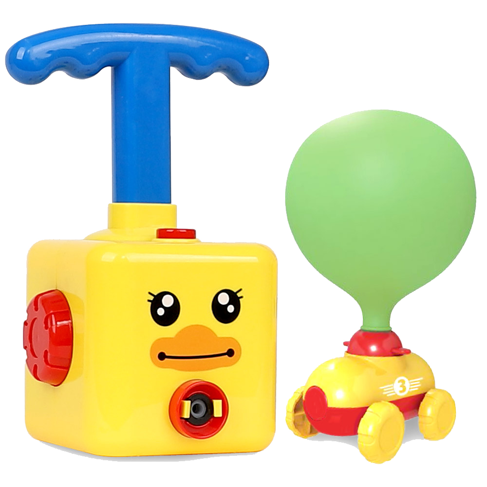 해피플레이 오리 풍선 자동차 과학놀이 작동완구, 혼합색상