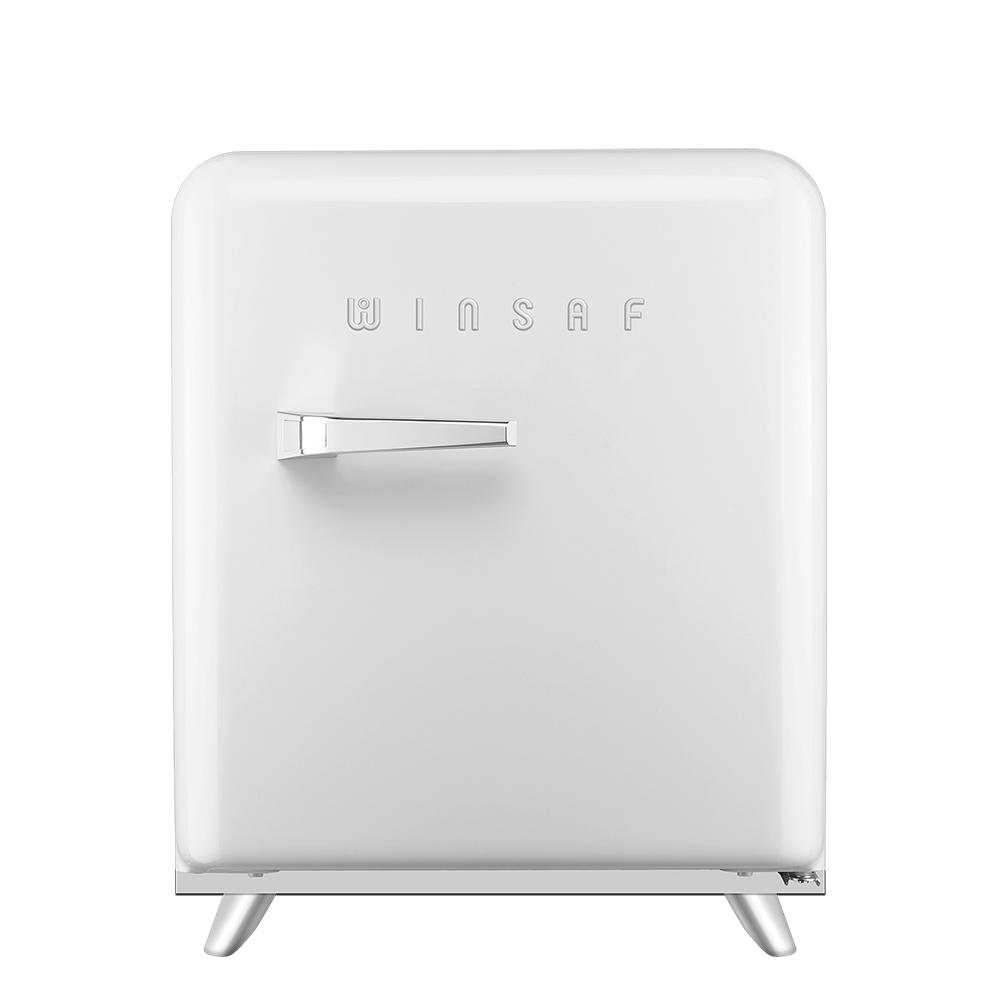 윈텍 윈세프 프리미엄 레트로 냉장고 45L 자가설치, WK-45RC(화이트크림)