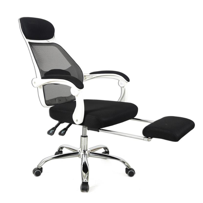 오피스엔홈 플라이 메쉬 침대형 의자, 블랙