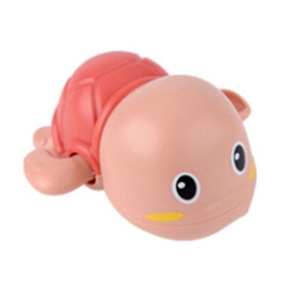 레츠토이 수영하는 거북이 삼총사 유아 목욕놀이 장난감, 레드