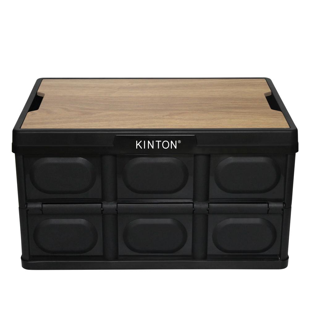 킨톤 트렁크정리함 캠핑 테이블 + 상판 테이블 오크 MOI9, 블랙, 1세트