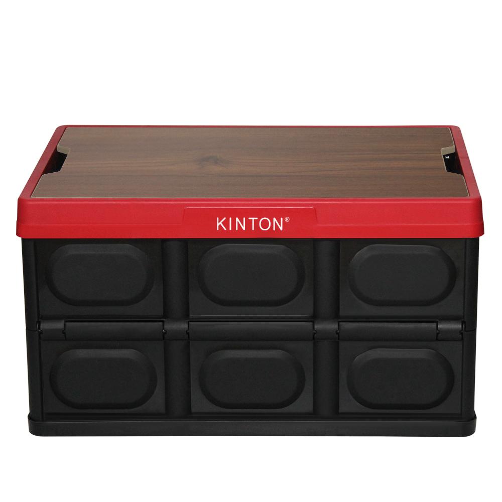 킨톤 트렁크정리함 캠핑 테이블 + 상판 테이블 티크 MTI9, 레드