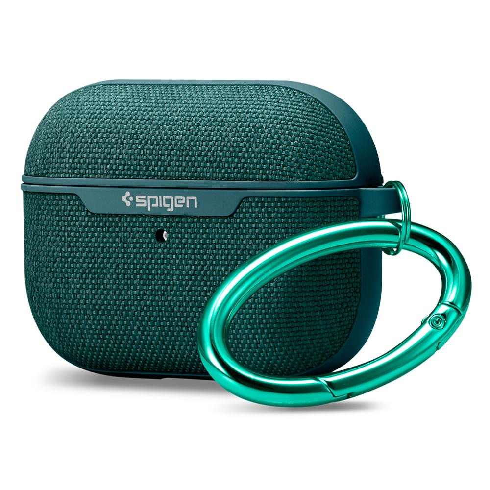 슈피겐 어반핏 에어팟 프로 패브릭 이어폰 케이스, ASD00825, 미드나잇그린