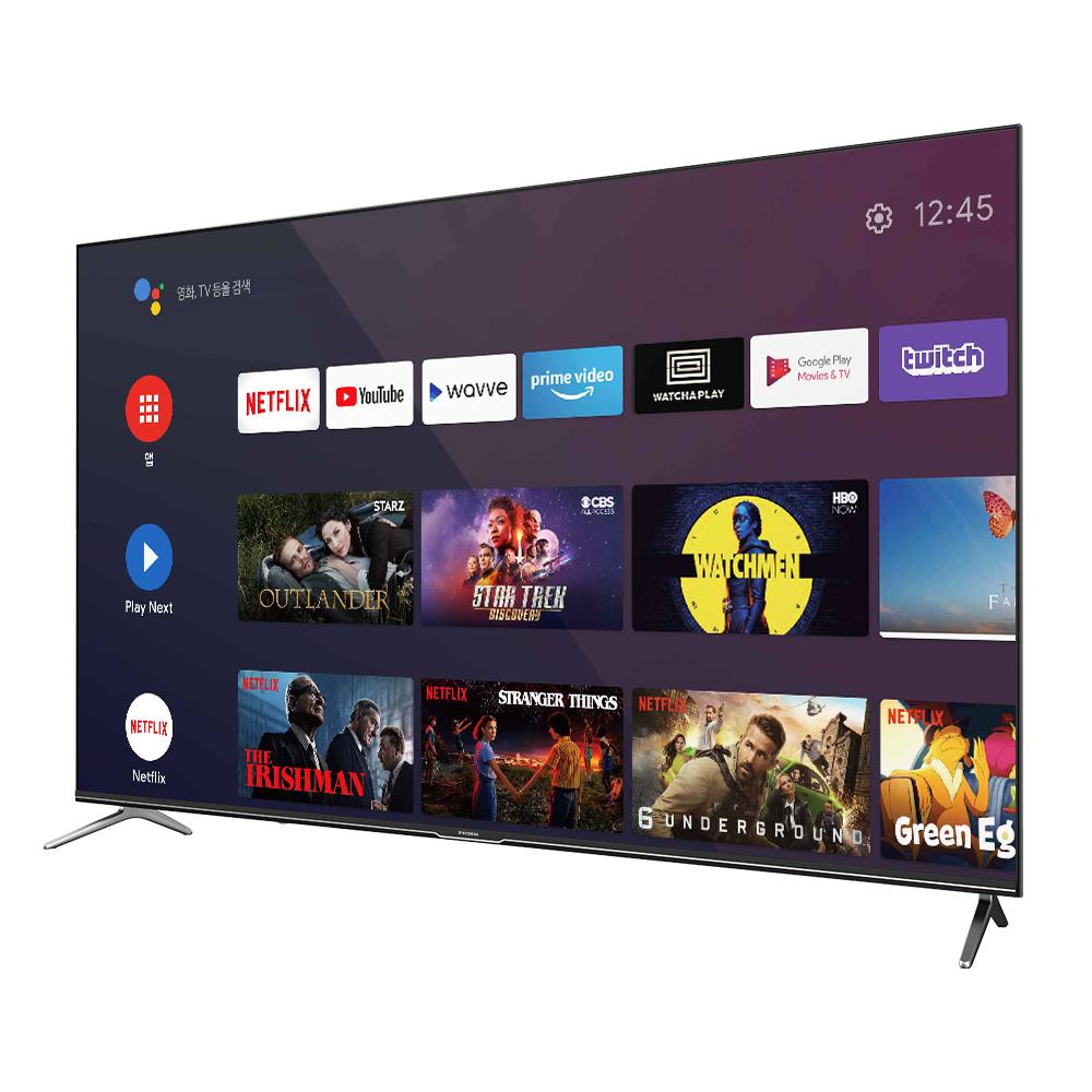 프리즘 UHD 165.1cm 구글 안드로이드 TV A65, 스탠드형, 방문설치