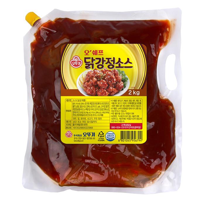 오뚜기 오쉐프 닭강정소스, 2kg, 1개