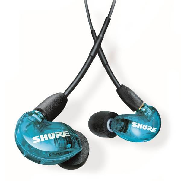 슈어 Sound Isolating 이어폰, SE215SPE, 블루