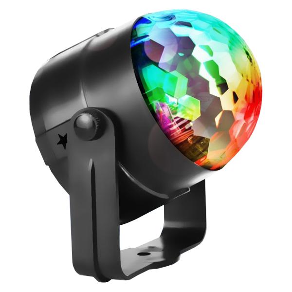 포시즌 차량 파티 캠핑용 파티조명 LED 3W RGB 미러볼세트, 혼합색상, 1세트