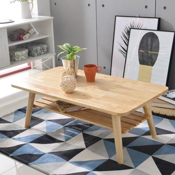 홈페리 사각 선반 테이블, 원목