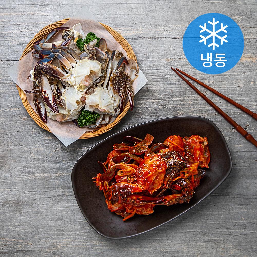 서풍앤쿡 국산 손질 절단꽃게 (냉동), 500g, 1팩