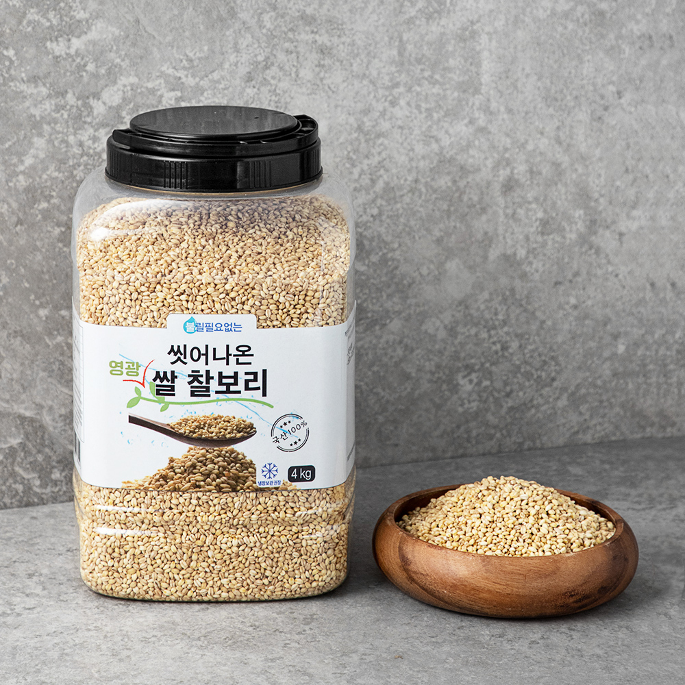 대구농산 씻어나온 국산 영광 쌀찰보리, 4kg, 1통
