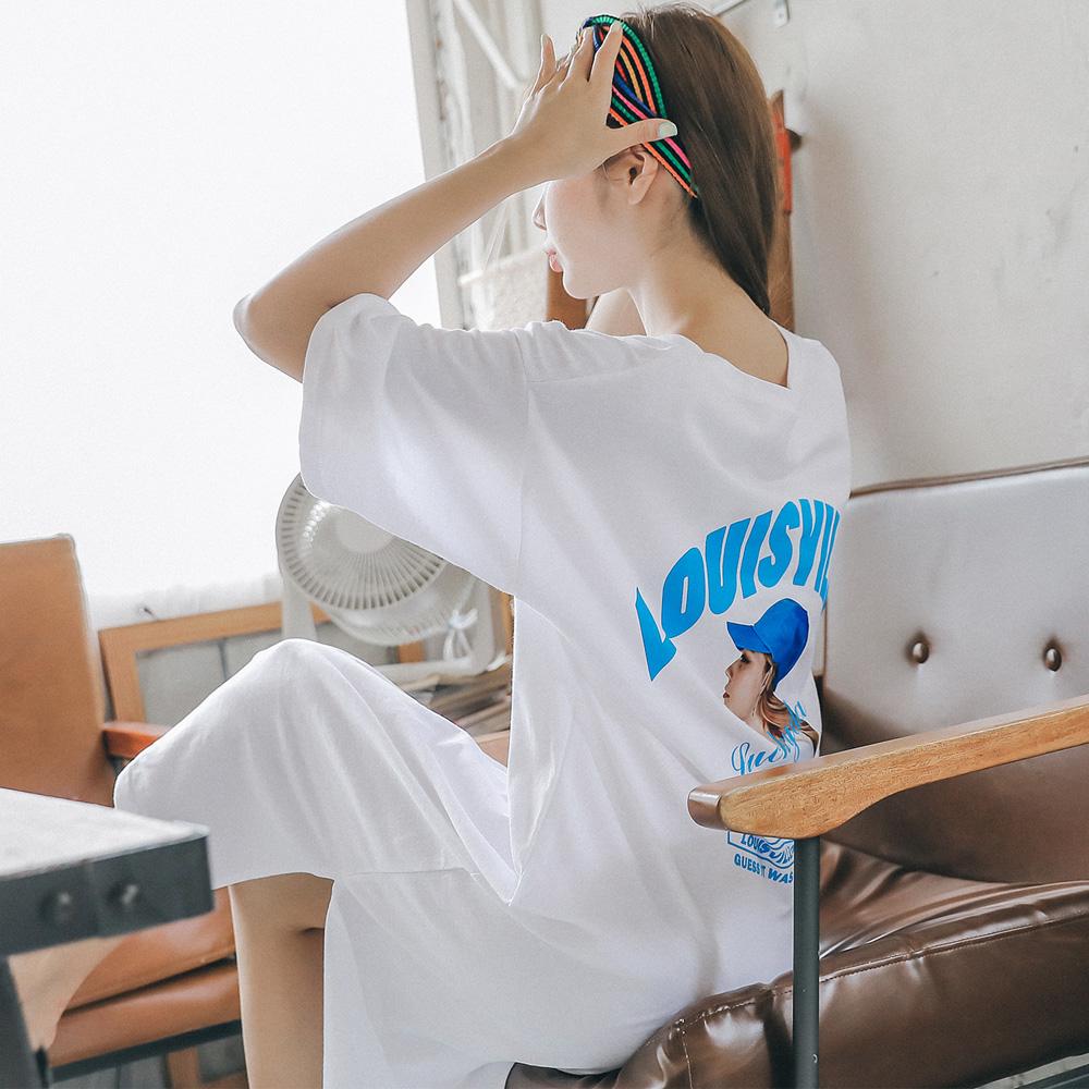 여성용 루이빌 페이스 원피스 잠옷
