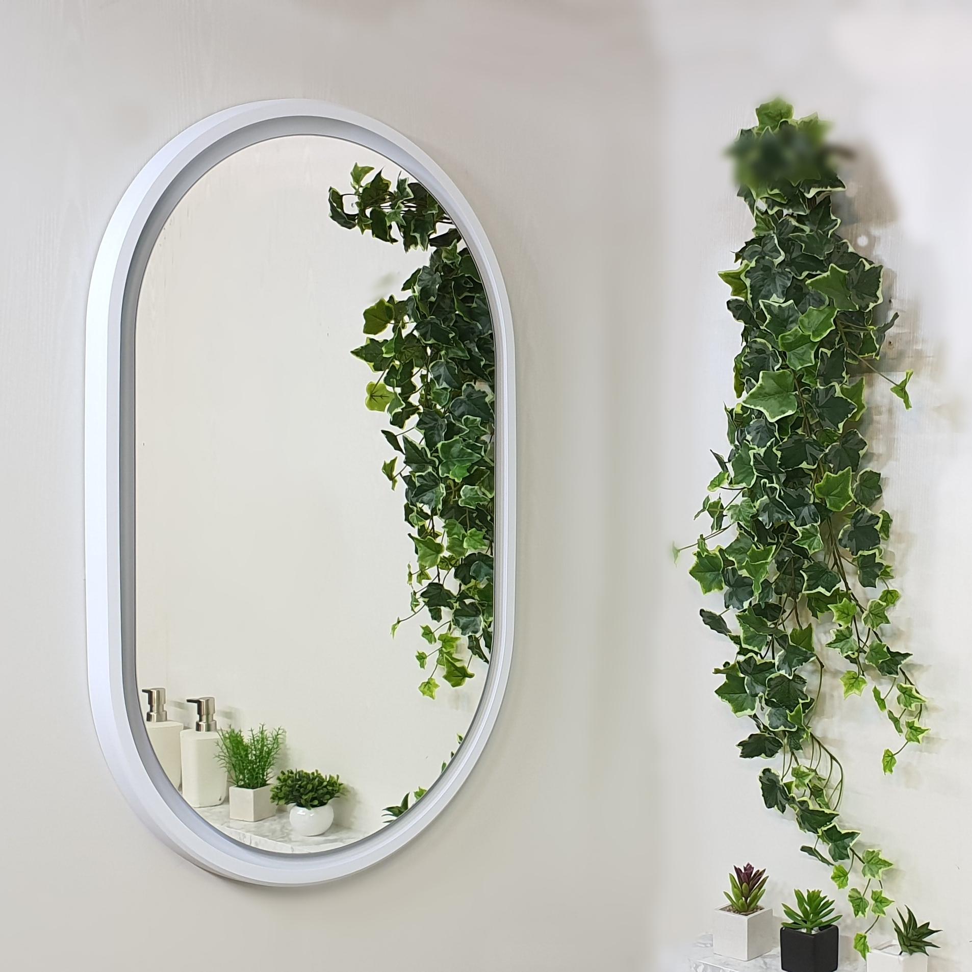입체 타원 화장대 욕실 거울, 무광화이트