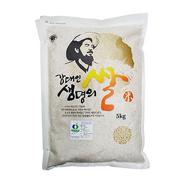 강대인생명의쌀 유기농 오분도미, 5kg, 1개