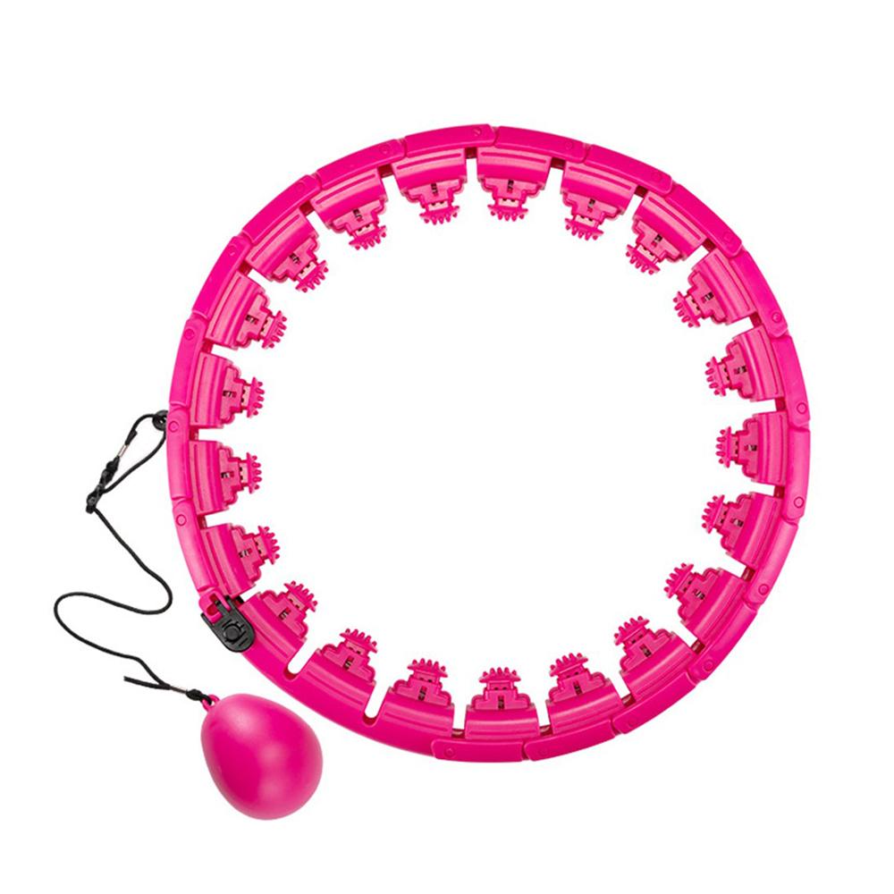 놀자리빙 롤러코스터 문어 빨판 다이어트 훌라후프 19구, 핑크