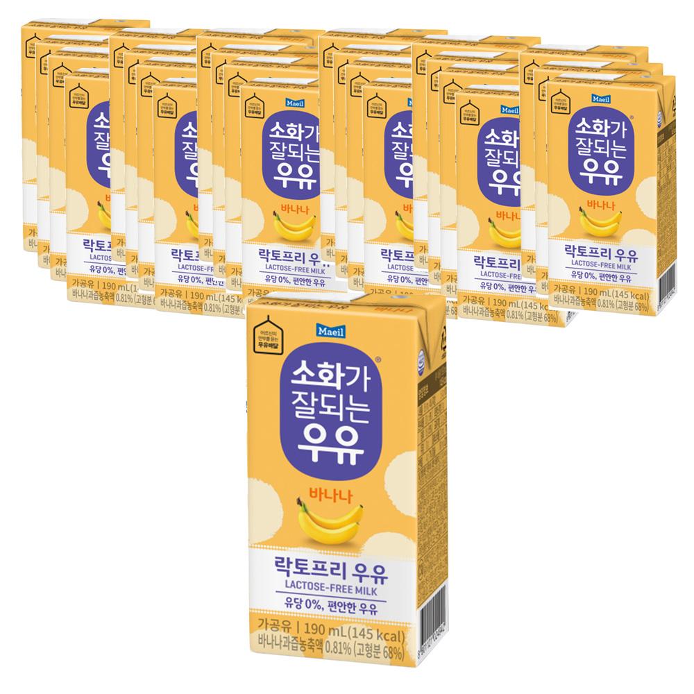 소화가잘되는우유 바나나, 190ml, 24개