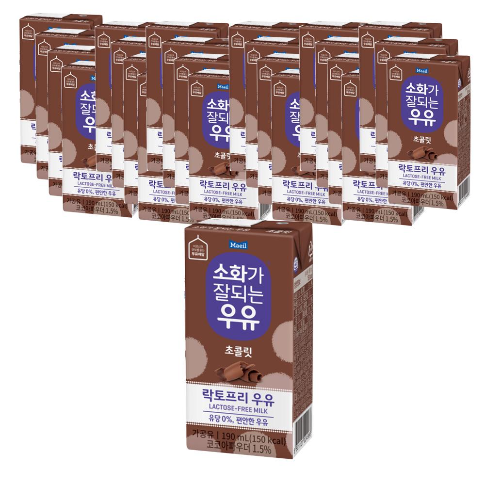 소화가잘되는우유 초콜릿, 190ml, 24개
