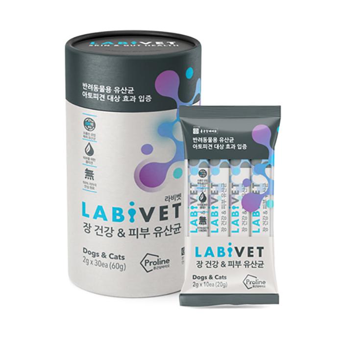 종근당바이오 X 이글벳 라비벳 반려동물 유산균 영양제 30p, 장 + 피부건강, 1개