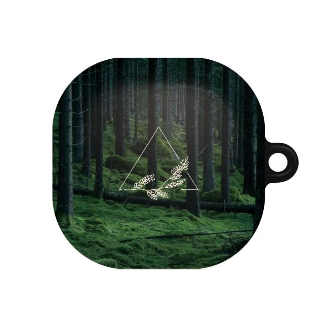 바니몽 더드로잉 갤럭시 버즈라이브 하드케이스, 단일상품, 01 버뮤다숲