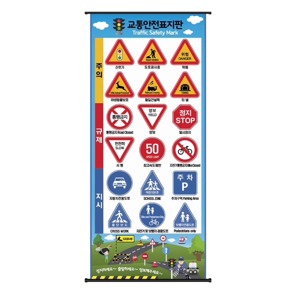 교통안전 벽걸이 표지판