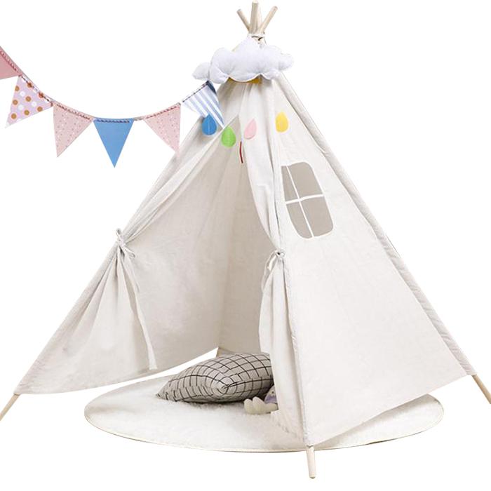 어바인클래스 실내놀이공간 북유럽 인디언 어린이 텐트, 아이보리