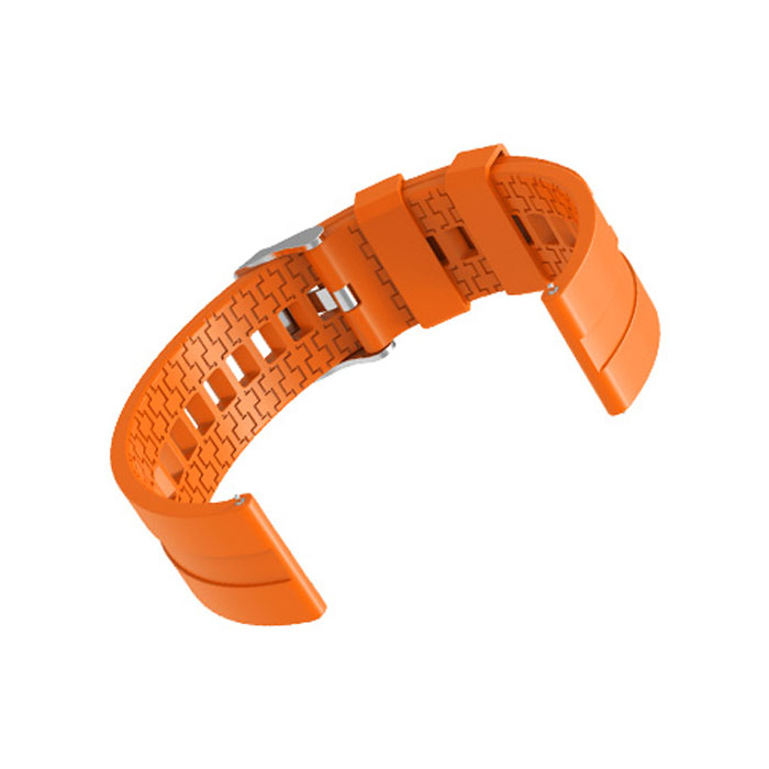 비쉐르 갤럭시 프론티어/기어S3/워치3 22mm 레고핏 실리콘 밴드 스트랩 (45/46mm 호환 가능), 오렌지, 1개