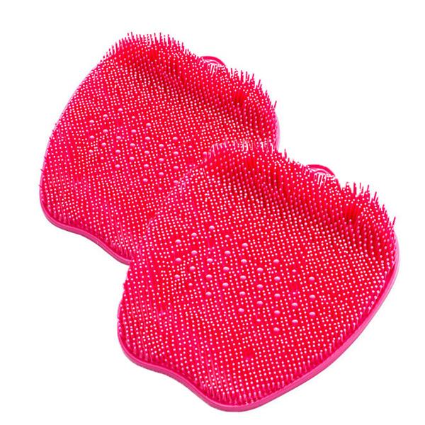 애플 발브러쉬 매트, 핑크, 2개