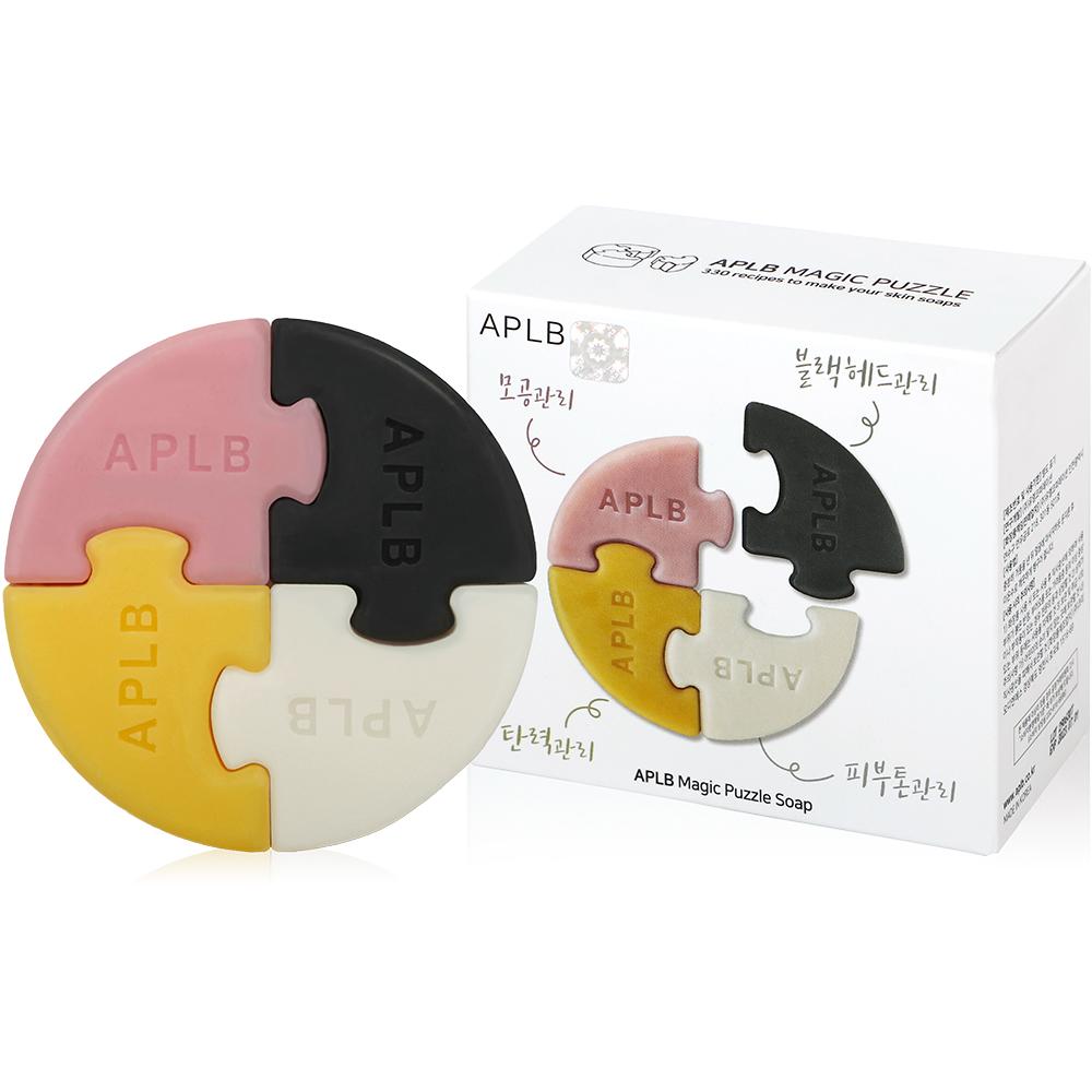 에이플비 피부고민 매직퍼즐 비누 4종 세트, 1세트