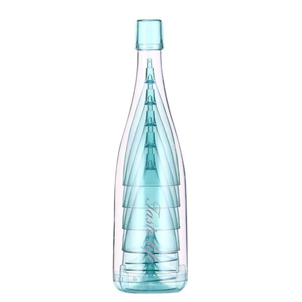 피크닉/캠핑용 와인잔 5p 세트 블루, 1세트