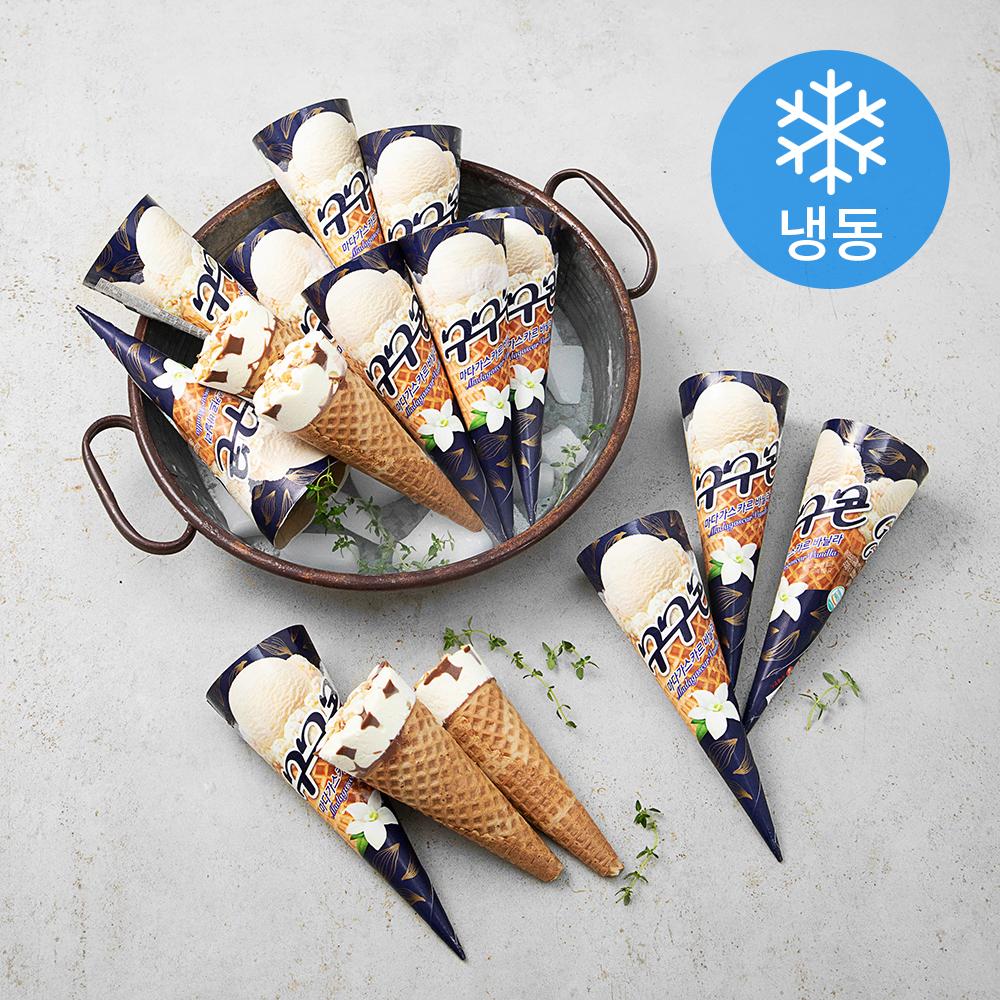 롯데푸드 구구콘 바닐라 마다가스카르 콘 아이스크림 (냉동), 160ml, 24개