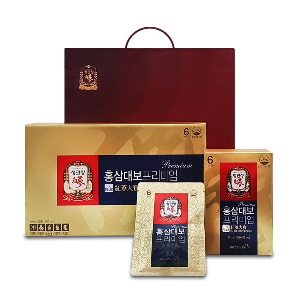 정관장 홍삼대보 프리미엄 + 쇼핑백, 40ml, 30개