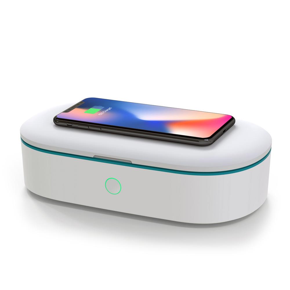 햅시 10W 스마트폰 무선 충전 겸용 UVC 살균기, YMQUV7