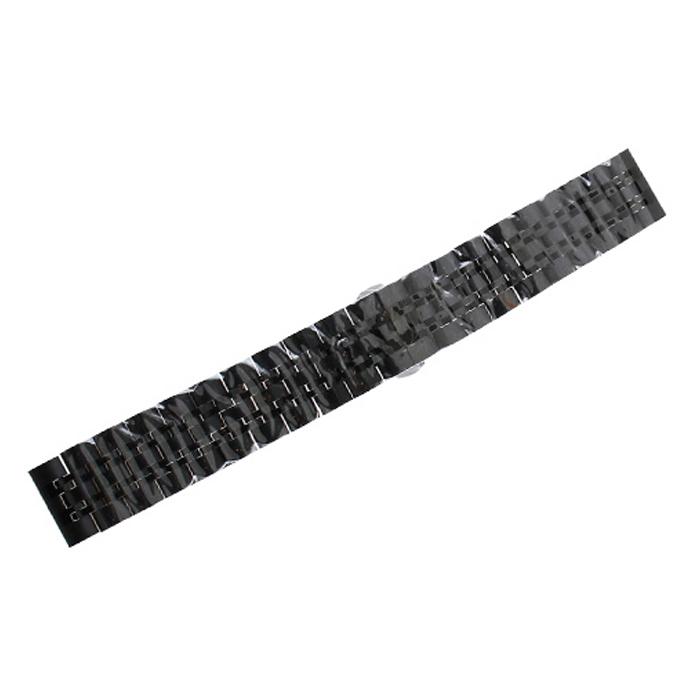 비쉐르 갤럭시 프론티어/기어S3/워치3 22mm 투웨이 메탈 밴드 스트랩 (45/46mm 호환 가능), 블랙, 1개