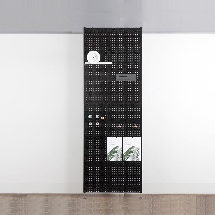 타공판닷컴 가벽 인테리어 사무실 셀프 파티션 70 x 200 cm, 블랙