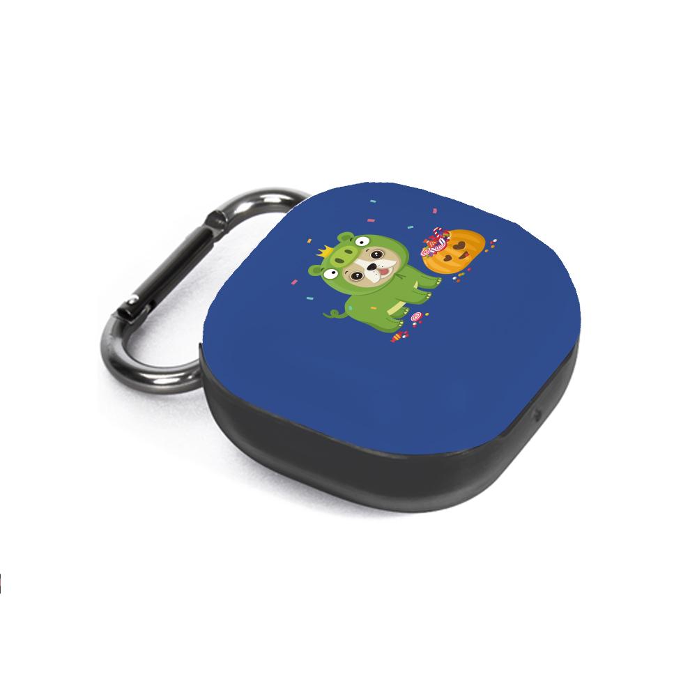 구스페리 강아지 인스타 디자인 갤럭시 버즈라이브 케이스 + 키링, 단일상품, 할로윈돼지