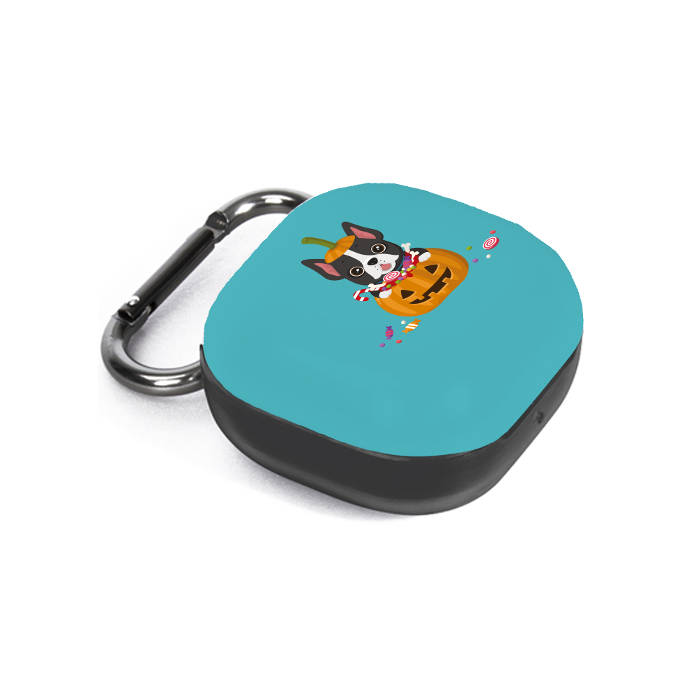 구스페리 강아지 인스타 디자인 갤럭시 버즈라이브 케이스 + 키링, 단일상품, 할로윈호박
