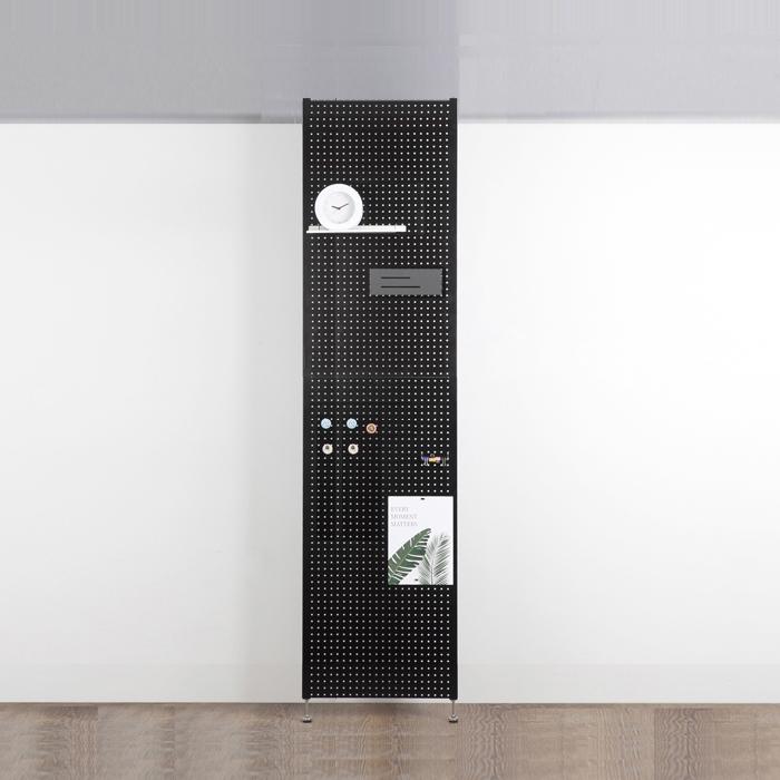 타공판닷컴 가벽 인테리어 사무실 셀프 파티션 50 x 200 cm, 블랙