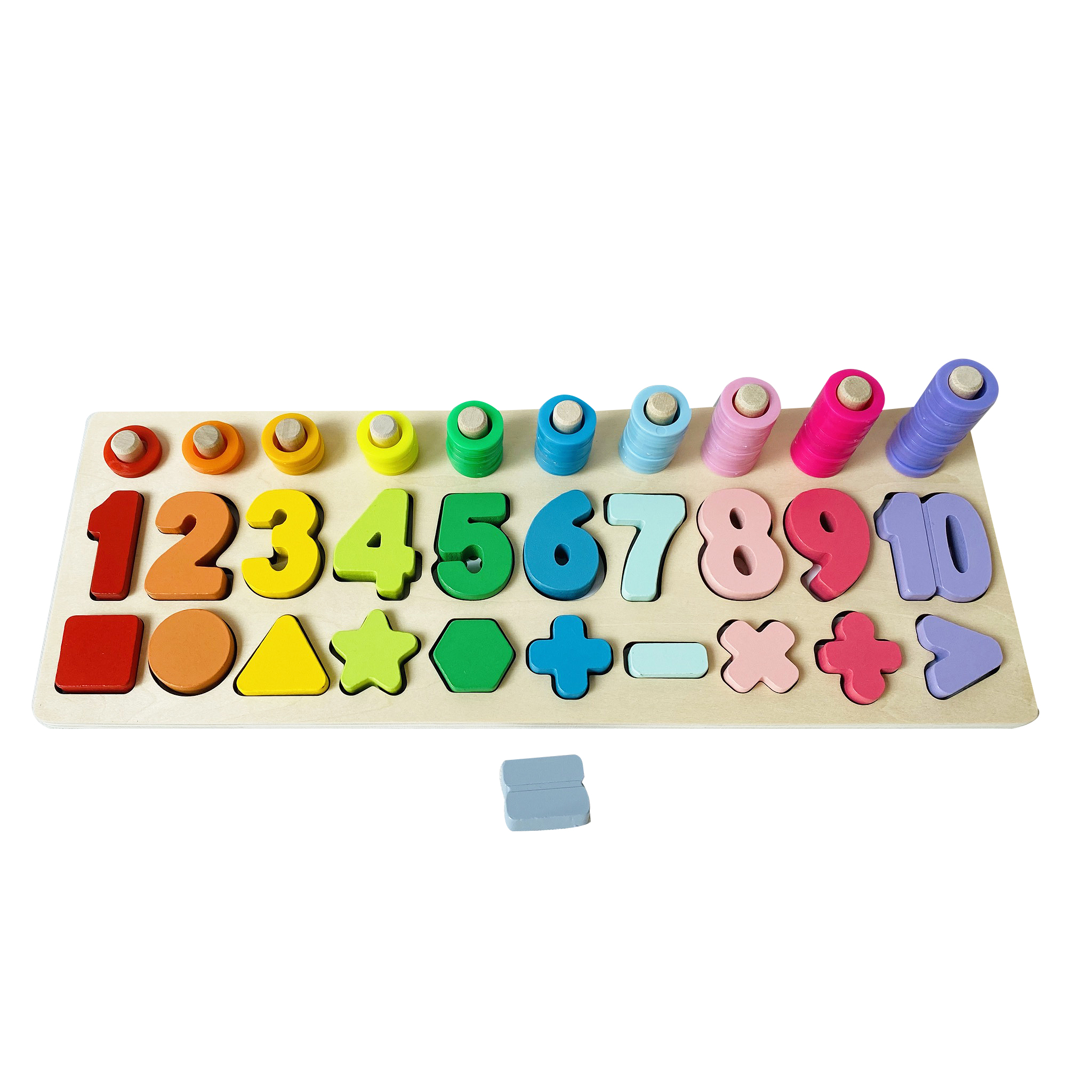 숫자퍼즐 원목교구, 1세트, 76피스