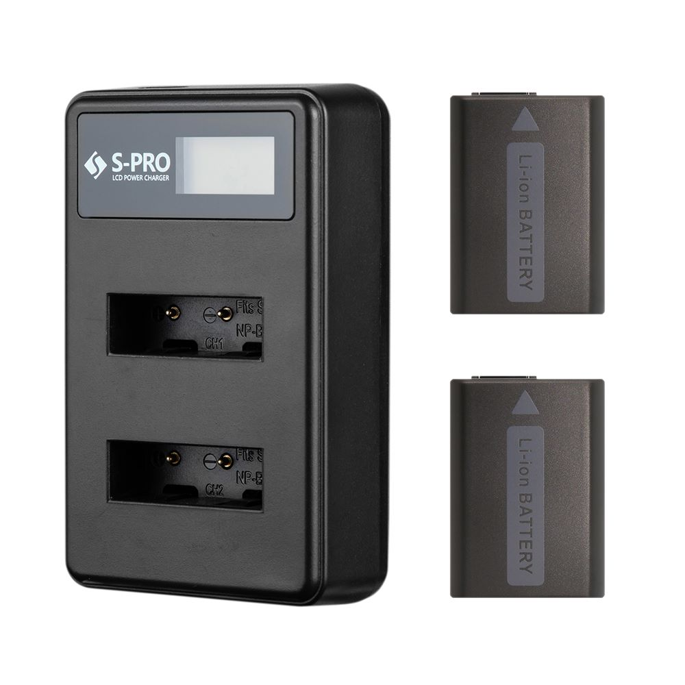 에스프로 소니 NP-FW50 전용 LCD 듀얼 충전기 + 배터리 2p 세트, SPRO-CH-DU
