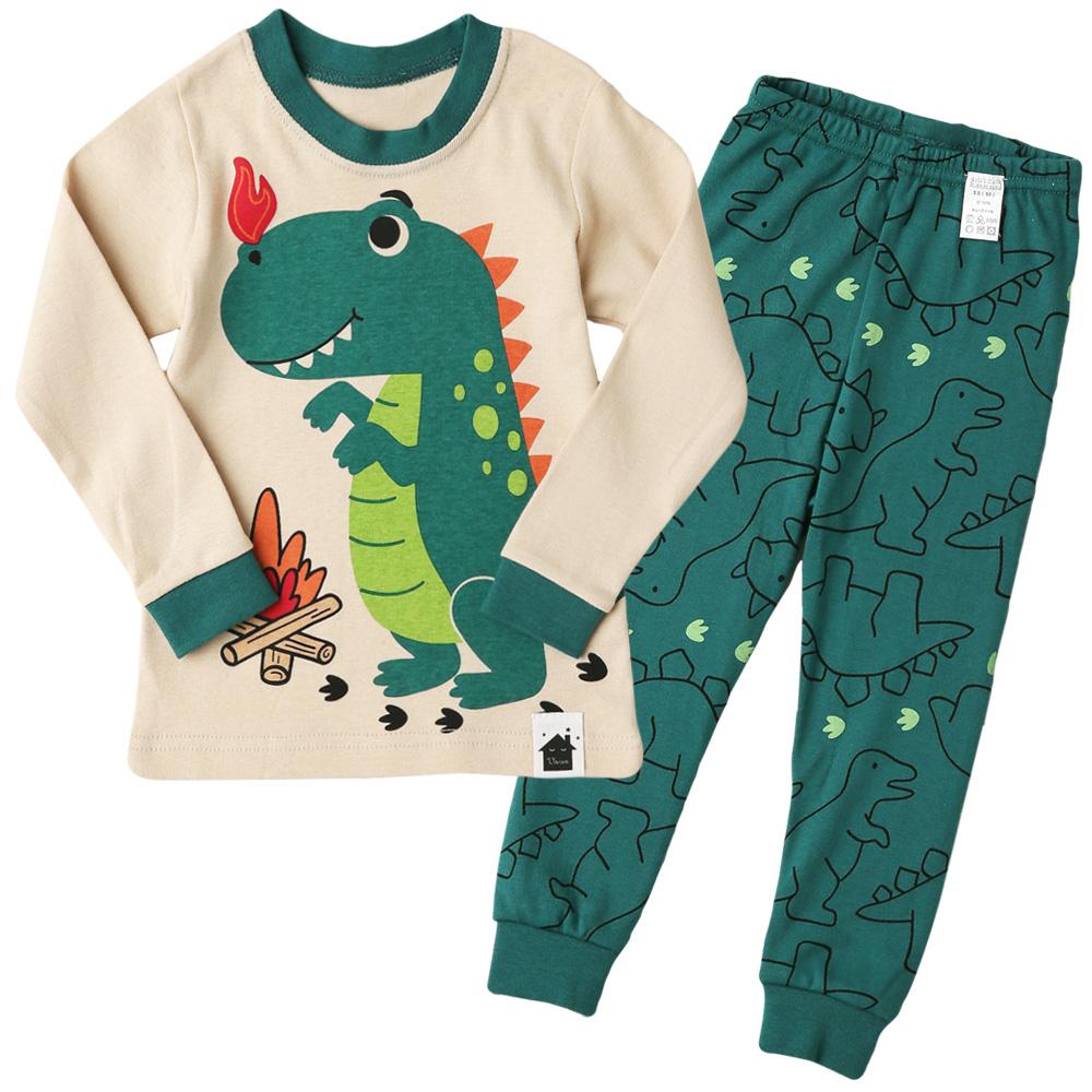 아동용 오가닉 내의 상하세트 뿜뿜 공룡
