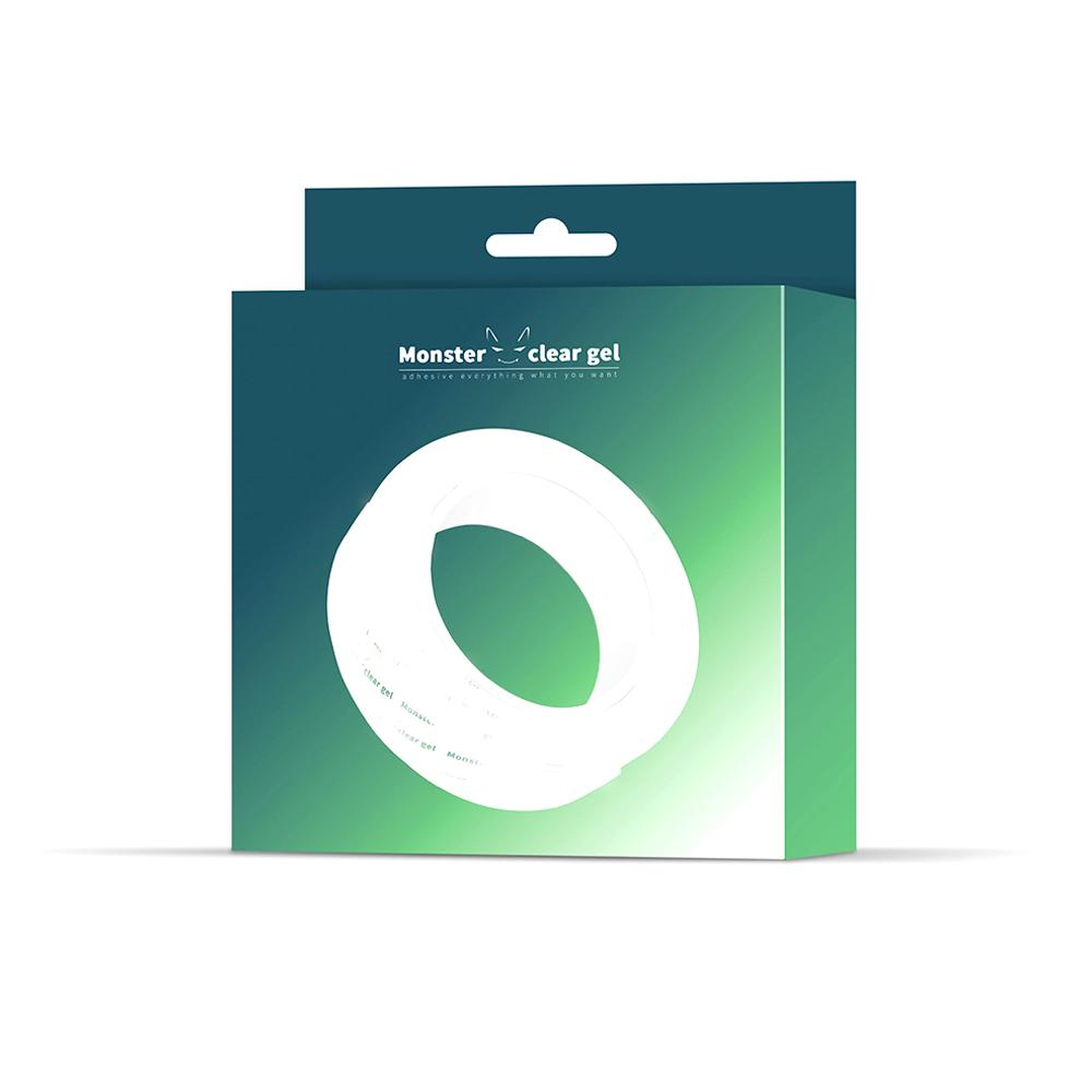 몬스터 클리어 겔 다용도 초강력 실리콘 멀티탭정리 투명 양면테이프 3m, 단일색상, 1개