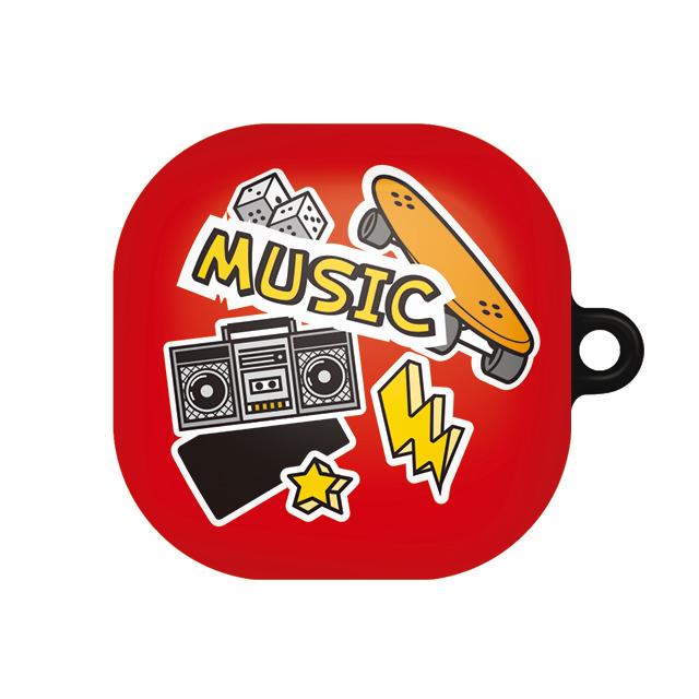 바니몽 갤럭시 버즈라이브 테이크 하드케이스, 단일상품, 02 뮤직레드