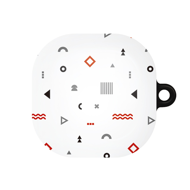 바니몽 갤럭시 버즈라이브/버즈프로 센치무드 하드케이스, 단일상품, 04 도형레드