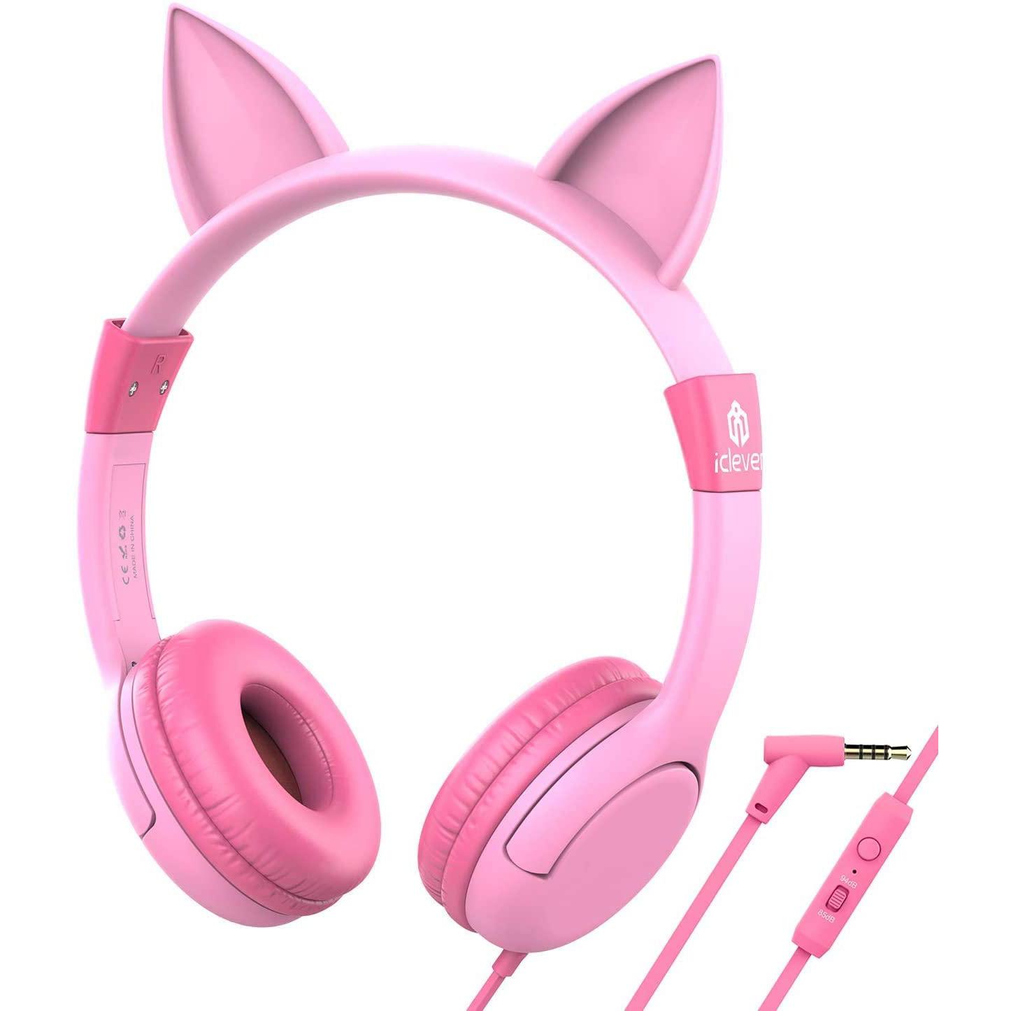 아이클레버 어린이 마이크 헤드셋, 단일상품, 핑크