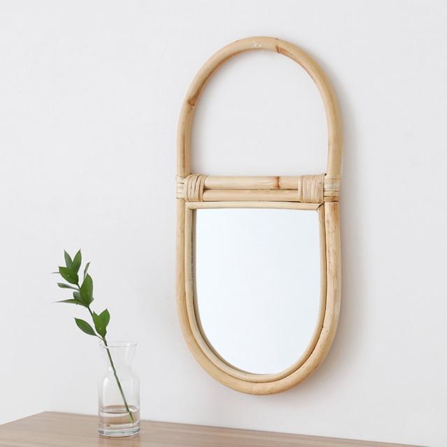 마켓비 TREKO 핸드메이드 거울 20x24 BM200824, 내추럴