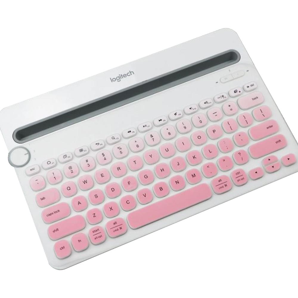 로지텍 K480 전용 컬러 키스킨, 그라디언트 핑크, 1개