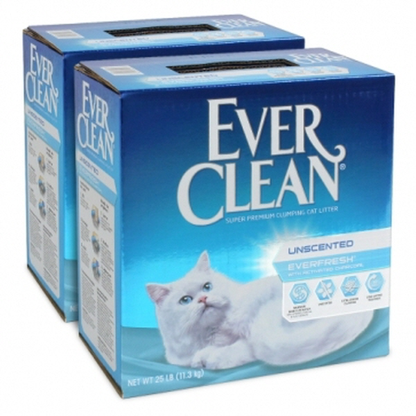 에버크린 에버프레쉬 고양이 모래 무향, 11.3kg, 2개