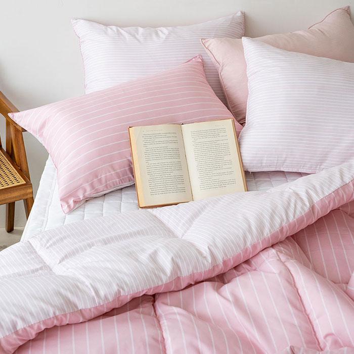믹스앤매치 어반 세미 차렵이불 패드세트, 핑크