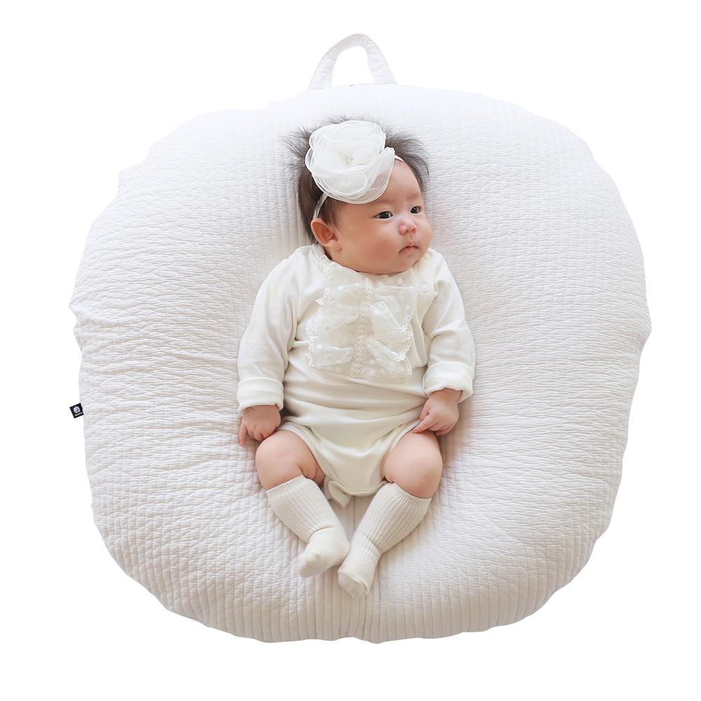 로토토베베 누빔 커버분리형 역류방지 수유쿠션 Baby 기본형, 화이트